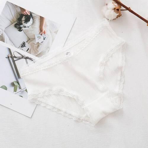 Cotton Women Panties Comfortable Soft Low Waist Briefs Screw Thread Underwear