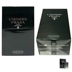 Prada L'HOMME Cologne by Prada 3.4 oz./ 100 ml. EDT Spray for Men. sealed