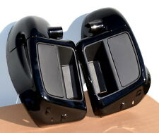 Lower Vented Leg Fairings Black w/Mounting Hardware for 2014+ Harley-Davidson