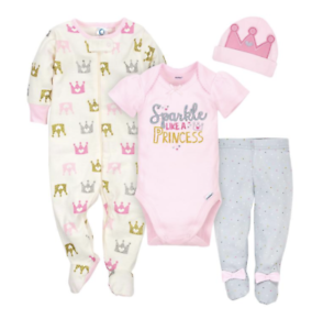 Baby girl 4piece onesie set