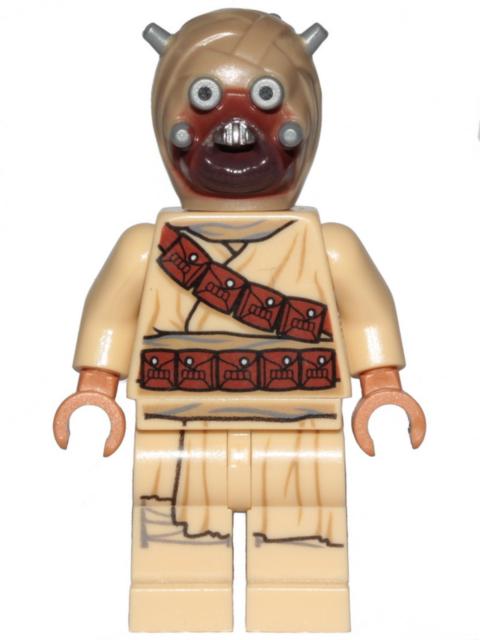 LEGO Minifig Tusken Raider Head Spikes sw1074 NEW orig LEGO 75299 75270 75265