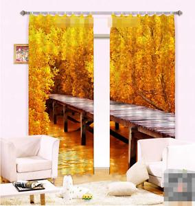 3d árbol puente 597 bloqueo foto cortina cortina de impresión sustancia cortinas de ventana