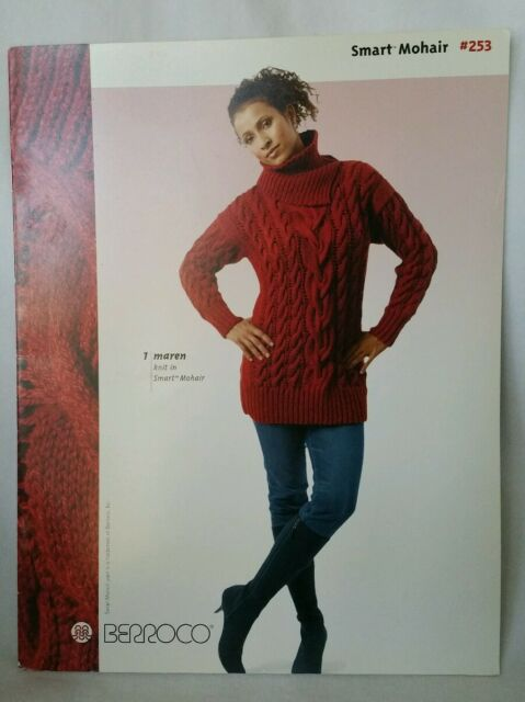 Beadshine Smart Mohair Berroco #253 Knitting Book Scarfs Sweaters Shawls Pattern