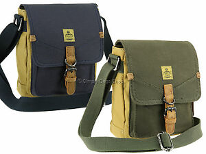 12ad1f02ed Troop London Two Tone Canvas Vintage Across Body Shoulder Travel Bag ...