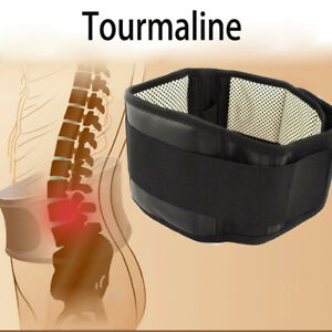 Back-Support-Brace-Belt-Lumbar-Lower-Waist-Magnetic-Pain-Relief-Adjust-Trimmer