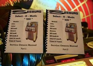 Seeburg Select-O-Matic 100 JUKE-BOX service/propriétaires Manuel (264 page)