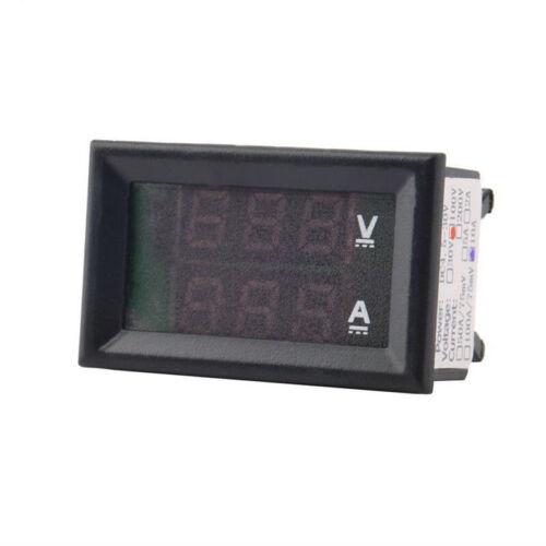 0~100V 10//50//100A Mini Voltmeter Amperemeter LED Doppeltes Digital Volt Ampere