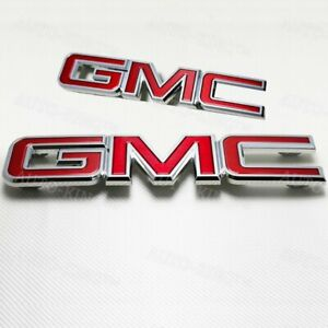 Red-Front-Grille-amp-Rear-Emblem-Badge-Set-New-For-2015-2018-GMC-Canyon