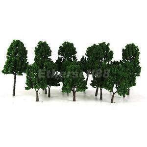 16 Dark Green Model Trees Train Railway Architecture Scenery Layout
