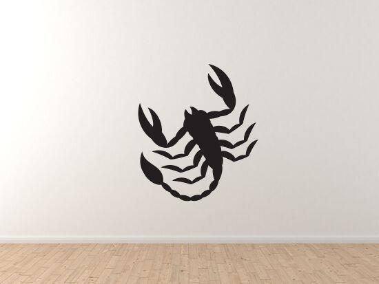 Zodiac Hgoldscope Astrology - Scorpion Scorpio Symbol - Vinyl Wall Decal