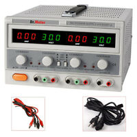 Dr. Meter Triple-output 30v 5a Linear Dc Power Supply Regulated Variable Led