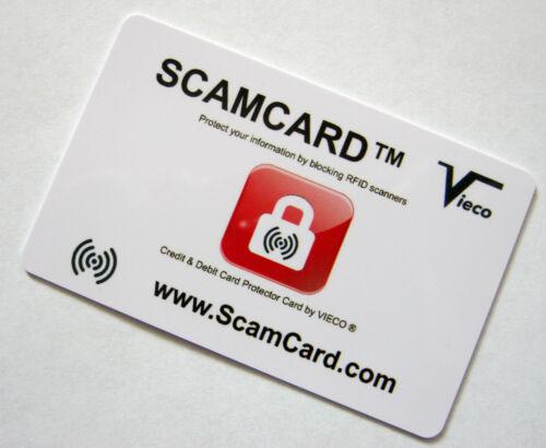Scamcard ® senza contatto protezione per carta di creditoRFID Bloccando Bigliettocarta di protezione