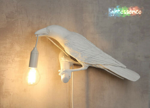 Raven Bird Lamp Crow Desk and Wall Plug-In Light Lamp House and Events Decor New