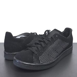 hot sale online 79761 8dc91 Details about ADIDAS Originals Mens Stan Smith Black Knit Sneakers 8 9.5 10  13 (MSRP $110)