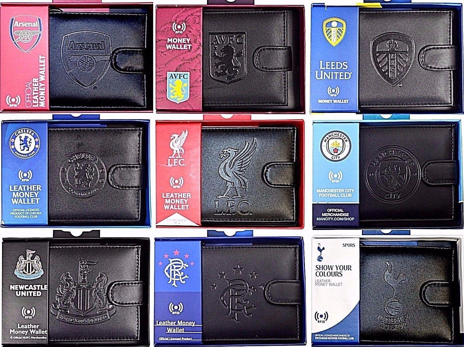 Chelsea Black Leather Wallet RFID Safe Embossed Gift Official Licensed Boxed