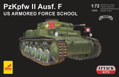 Helpful Attack 1/72 Pz.kpfw.ii Ausf.f Us Armored Force School # 72899 Be Friendly In Use Models & Kits