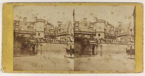 Parigi Museo Da Cluny Medio Foto Stereo PL55L5n Vintage Albumina c1865