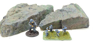 Solid Resin Rocks Set of 2 hand cast resin. Scatter Scenery