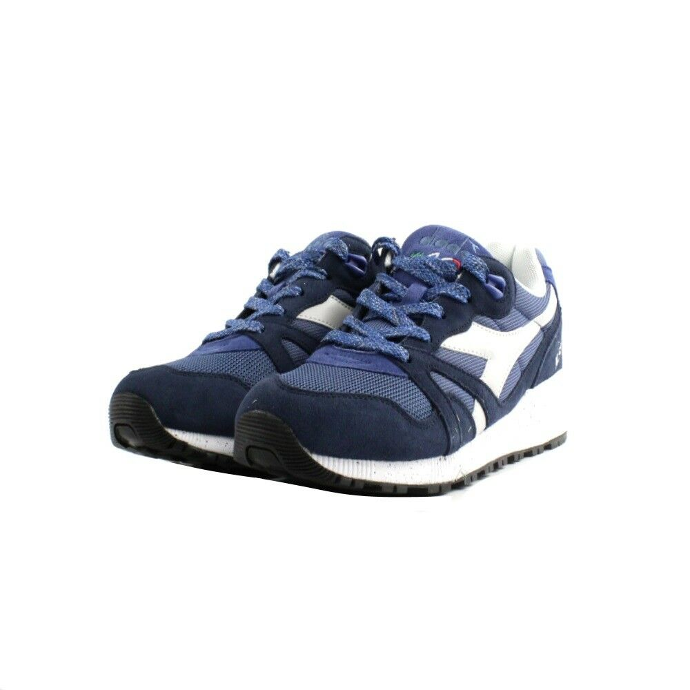 shoes Sneakers Diadora N9000 Speckled Man Fabric Suede bluee White