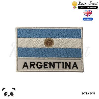 Bandera Argentina Parche Bordado de Aplicaci/ón con Plancha