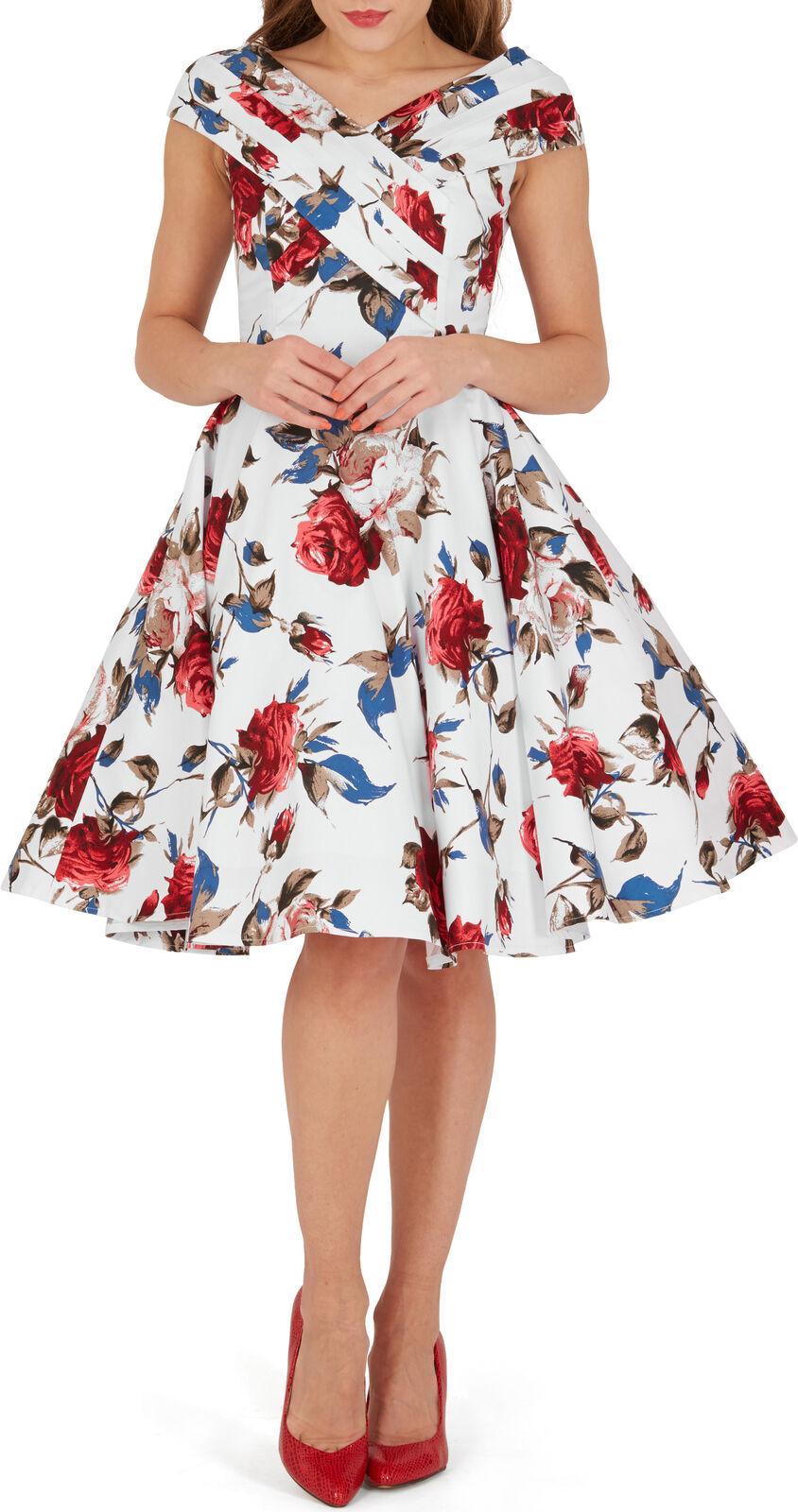 Belle  enya  vintage mercy rétro années 50 rockabilly soirée swing robe