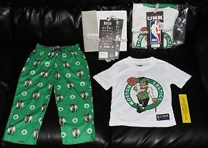 buy online b0156 40703 Details about Boston Celtics Boys 4-6 NBA Store NEW Kids XS Shirt Pants  Lounge Set Childs 4 6