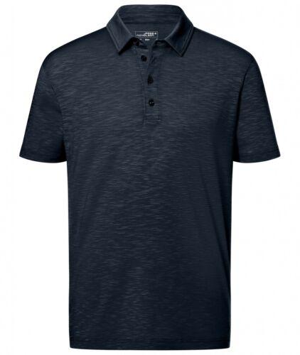 Herren Funktions Polo Shirt Poloshirt Funktionsshirt Slub Poloshirt