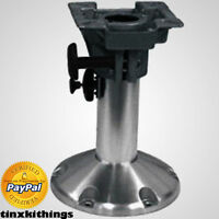 Adjustable Boat Seat Pedestal 12-18in Cabin Locking Seat Mount 360 Degree Swivel