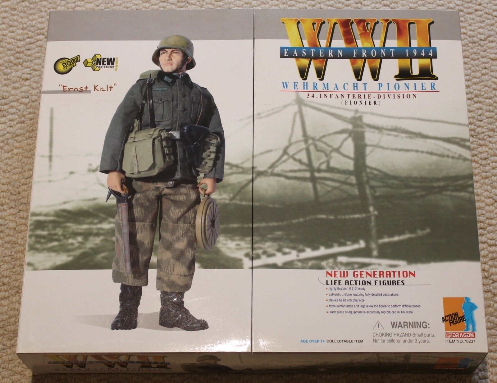 Dragon Action Figure ww11 tedesco Ernst Kalt 1/6 12  in scatola ha fatto Cyber HOT Toy
