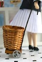 Shopping Basket / Trolley, Dolls House Miniatures, Doll Accessory, 1.12 Scale
