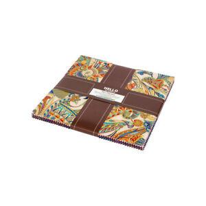 Treasures-Of-Alexandria-Multi-10-034-Fabric-Quilt-Squares-Layer-Kaufman-TEN-742-42