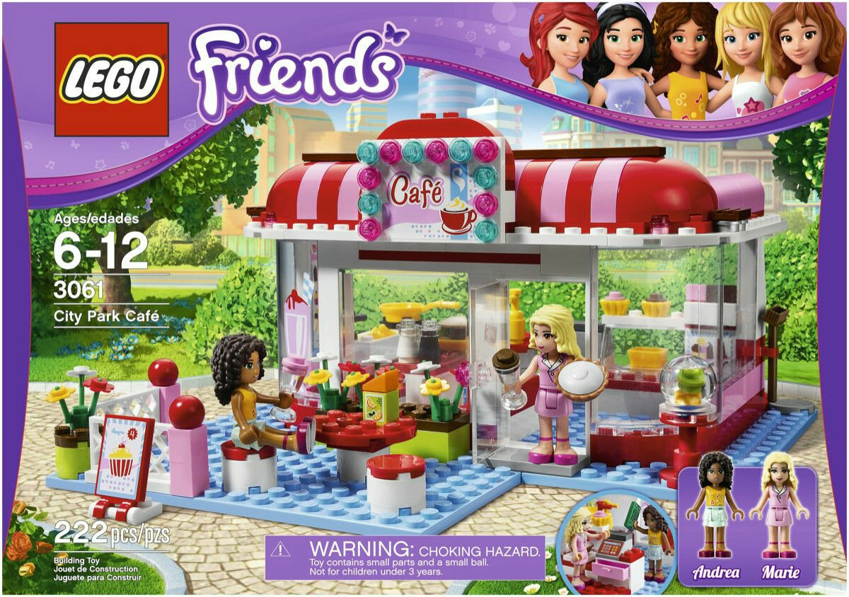 NEW LEGO Friends 3061 City Park Cafe- 222 Pieces- NEW Sealed- Ship Worldwide