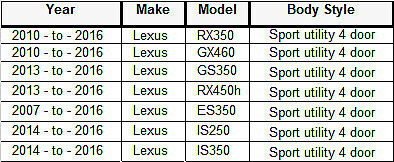 2010-2016 LEXUS Series Genuine Windshield RAIN SENSOR GEL PAD ES//GS//GX//IS//LX