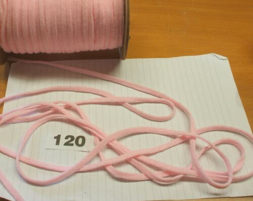Rose 5 m x 7 mm très doux stretch plat cordon 120