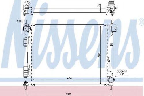 Brand New Radiator engine cooling for HYUNDAI-KIA 67611 Nissens Top Quality