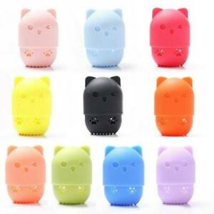 Cat-Shape-Silicone-Makeup-Sponge-Holder-Cosmetic-Puff-Capsule-Carrying-Case-Cute