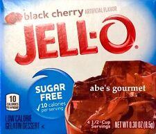 JELL-O Sugar Free Low Calorie Gelatin Dessert: Black Cherry (28 Pack) .30 oz Box