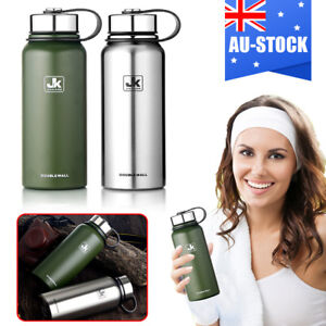 55609c35f6 0.8-1.5L Stainless Steel Water Bottle Double Wall Vacuum Insulated ...