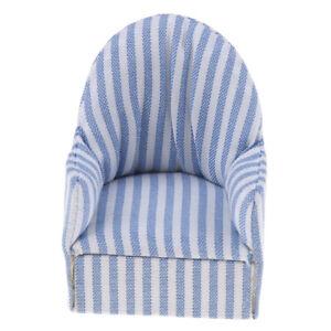 1:12 puppenhaus miniaturmöbel streifen sofa stuhl für schlafzimmer ...