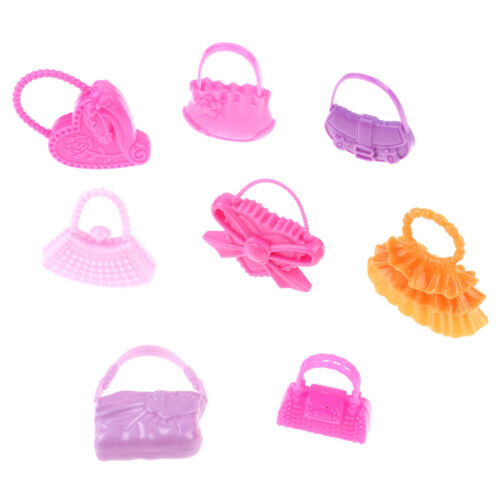 8 Pcs mix styles doll bags accessories toy colorized fashion morden bags BS