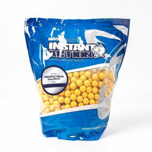 NASH BAIT Instant Action Ananas Crush 15 mm 1 kg//Pêche à La Carpe