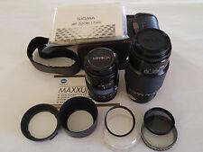 MINOLTA AF 28-85mm F1:3.5-4.5 ZOOM and SIGMA 75-300MM F1:4.5-5.6 ZOOM Lenses (2)