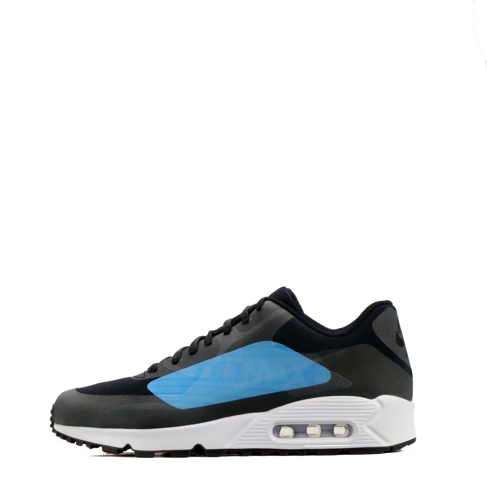 Nike AIR MAX 90 ns GPX Big Logo Uomo Casual   Da Ginnastica Nero/Blu rrp .99
