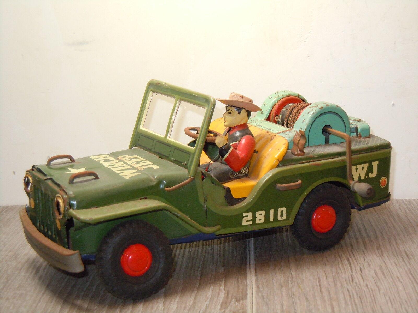 Winch Jeep 2810 W.J W.J W.J van Nomura Toys Japan Tinplate 15955 2c0f39