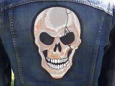GRAND ECUSSON PATCH THERMOCOLLANT/ CRANE skull bone biker trike country moto