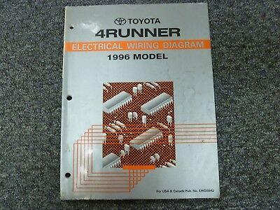 1996 Toyota 4Runner SUV Electrical Wiring Diagram Manual ...