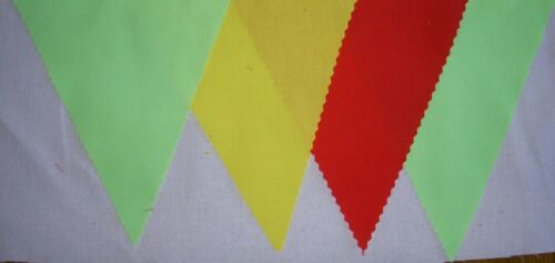 FOOTBALL BUNTING FLAGS LIME GREEN YELLOW  RED PARTY DECORATION 2MT OR MORE