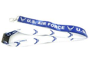 USAF-U-S-Air-Force-Military-Lanyard-ID-Badge-Key-Holder
