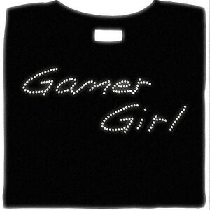 Gamer-Girl-Shirt-Rhinestone-Sexy-Gaming-Gamer-Small-5X-Shirt
