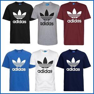 Adidas-T-Shirt-Herren-Shirt-Trefoil-Logo-Shirts-Originals-3-Stripes-Tee-WoW-NEU